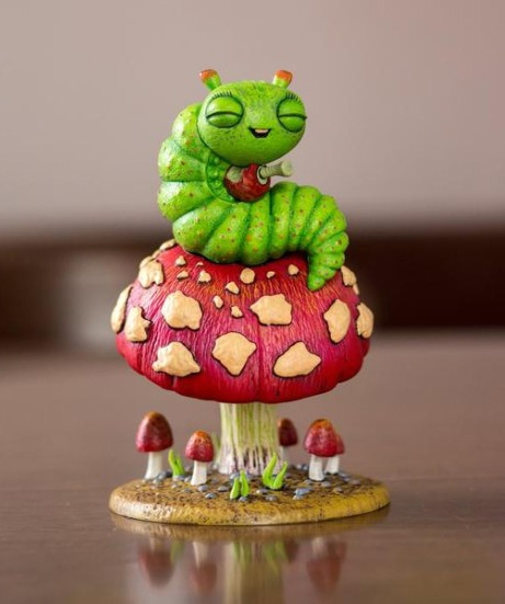 Baby Blissed Out Bug statue