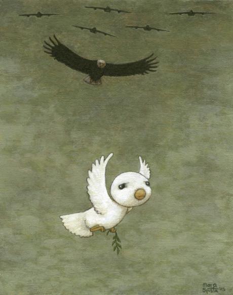Bird Watching acrylic on canvas