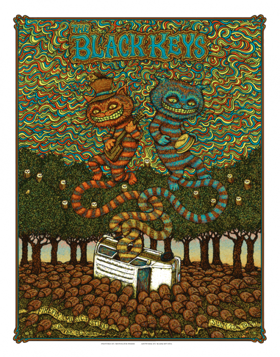 The Black Keys - Firefly Festival Poster