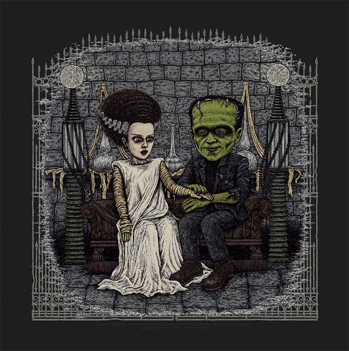The Bride of Frankenstein (Universal Classic Monsters) screen print