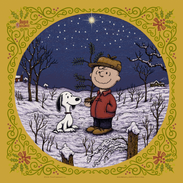 A Charlie Brown Christmas print