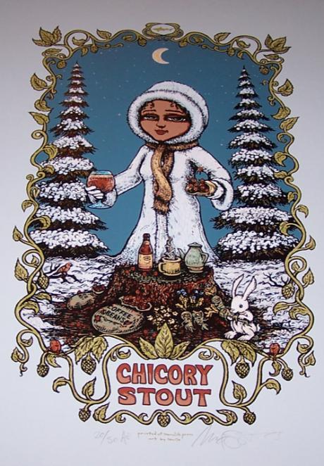 Chicory Stout screen print