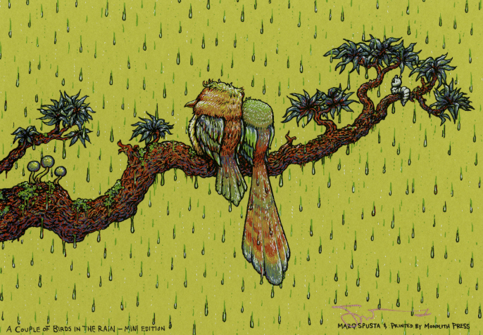 A Couple Birds in the Rain - Mini Edition