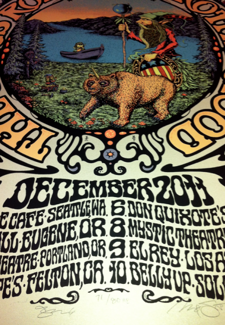 Chris Robinson Brotherhood Poster collaboration wit Alan Forbes