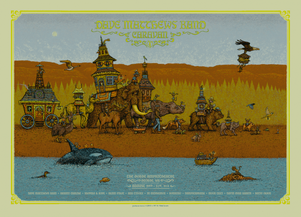 Dave Matthews Band Caravan 2014 Poster