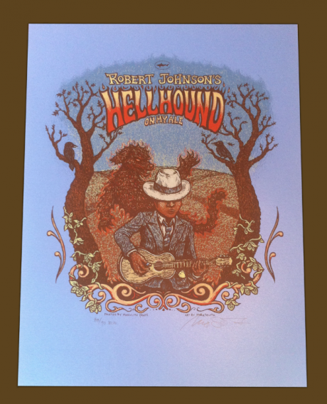 Robert Johnson\'s Hellhound Print