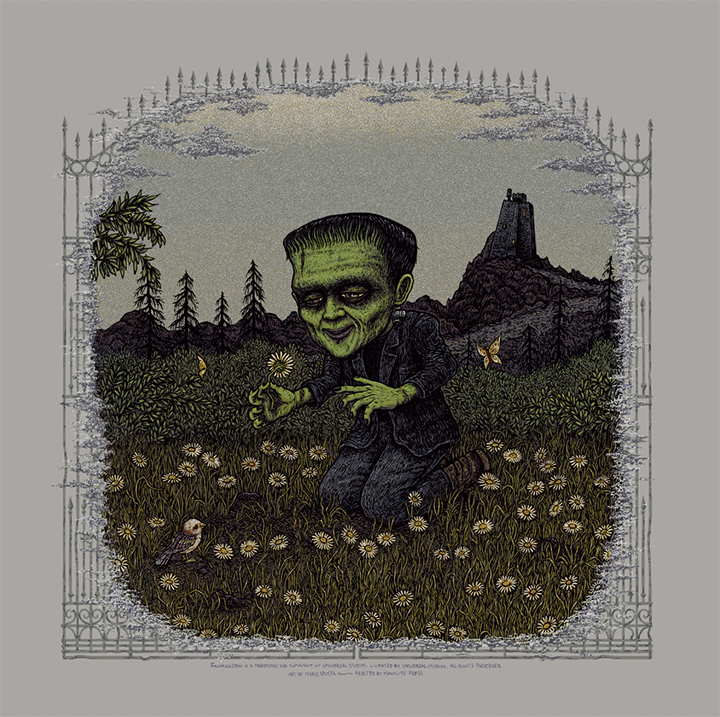 Frankenstein (Universal Classic Monsters) screen print