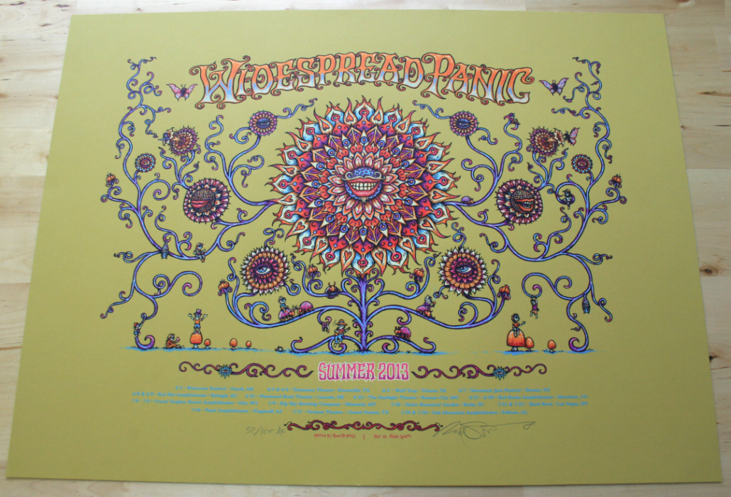 Widespread Panic Summer 2-13 Poster- Artist Edition