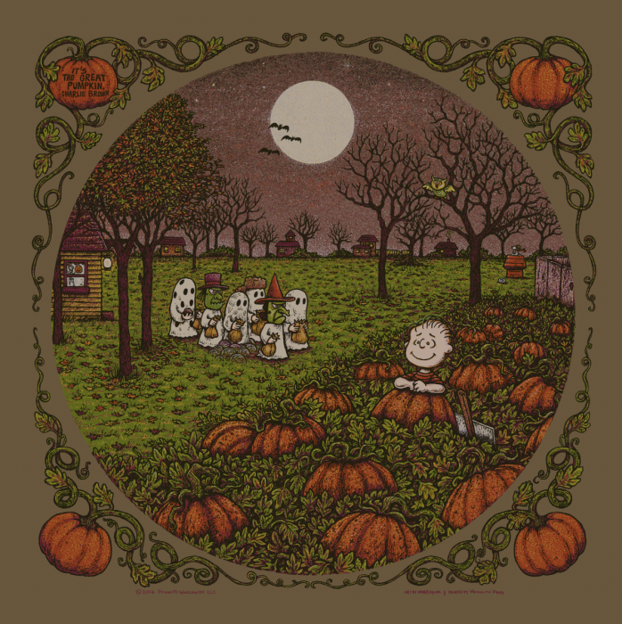 It's The Great Pumpkin, Charlie Brown. Walnut Edition of 150.