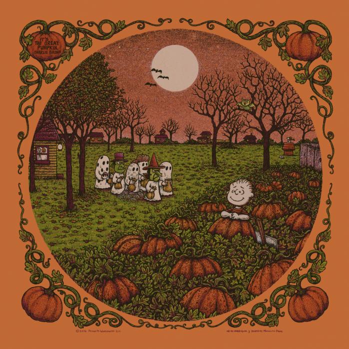 It's The Great Pumpkin, Charlie Brown. Pumpkin Edition of 80.