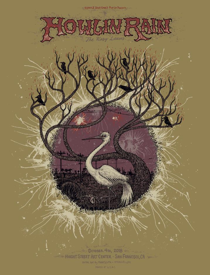 Howlin Rain - H.S.A.C. Poster
