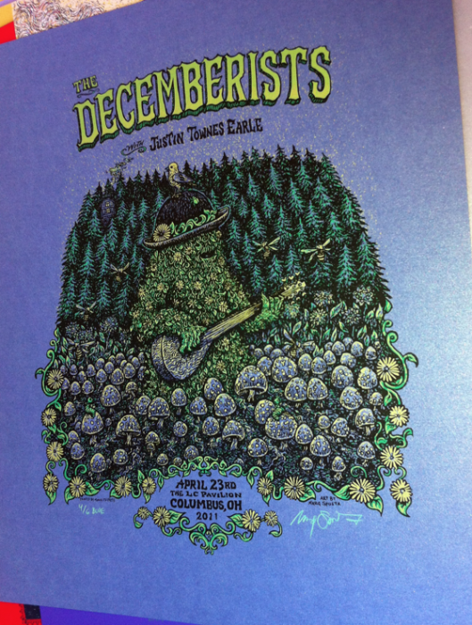The Decemberists Ohio (Blue of 6)=$100