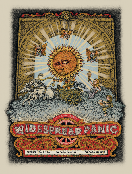 Widespread Panic- Chicago Theatre Poster 2011