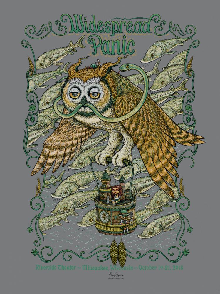 Widespread Panic - Milwaukee Poster