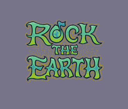 Rock the Earth logo design