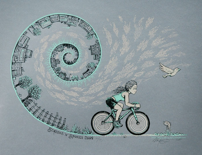 Screens \'n\' Spokes screen print