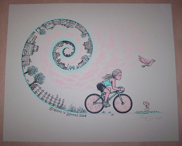 Screens 'n' Spokes screen print
