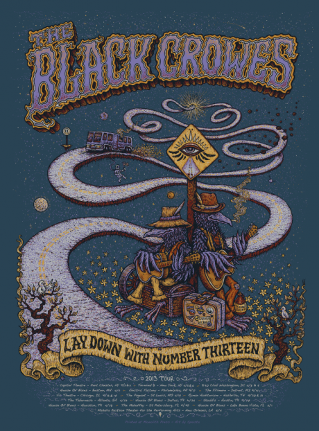 The Black Crowes - Lay Down with Number 13 US Tour Poster