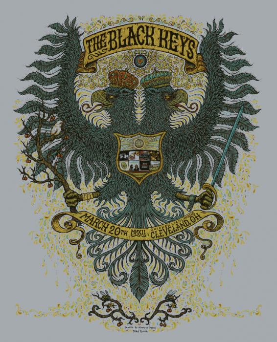 The Black Keys - Cleveland Poster