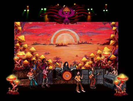 The Black Crowes Stage Illustrations 5