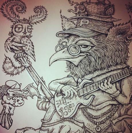 Umphrey\'s McGee Poster original inking