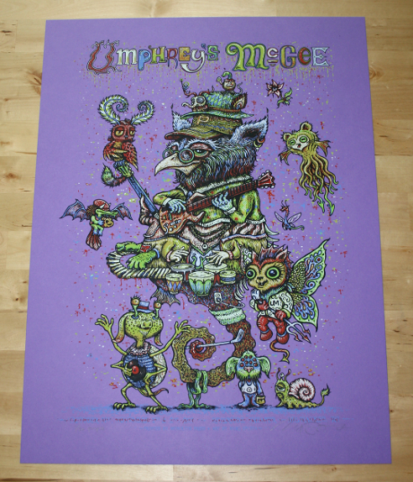 Umphrey\'s McGee Milwaukee Halloween Mash-up poster - Purple variant