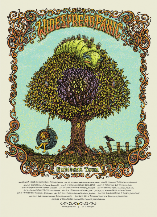Widespread Panic Summer Tour Poster
