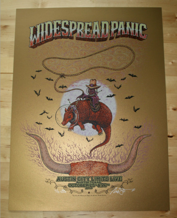 Widespread Panic - Austin City Limits Poster - Old Gold Variant