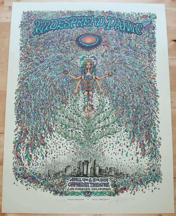 Widespread Panic - Los Angeles Poster AE