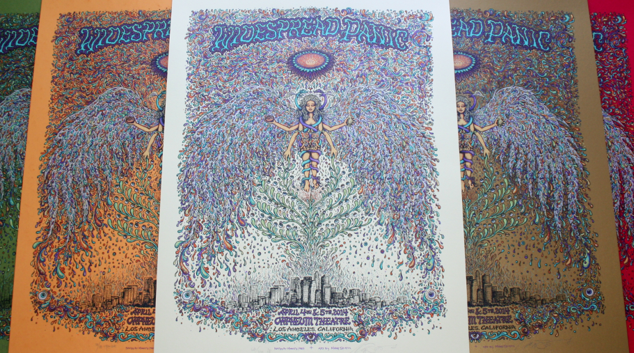 Widespread Panic LA Artist Edition and 4 Variants