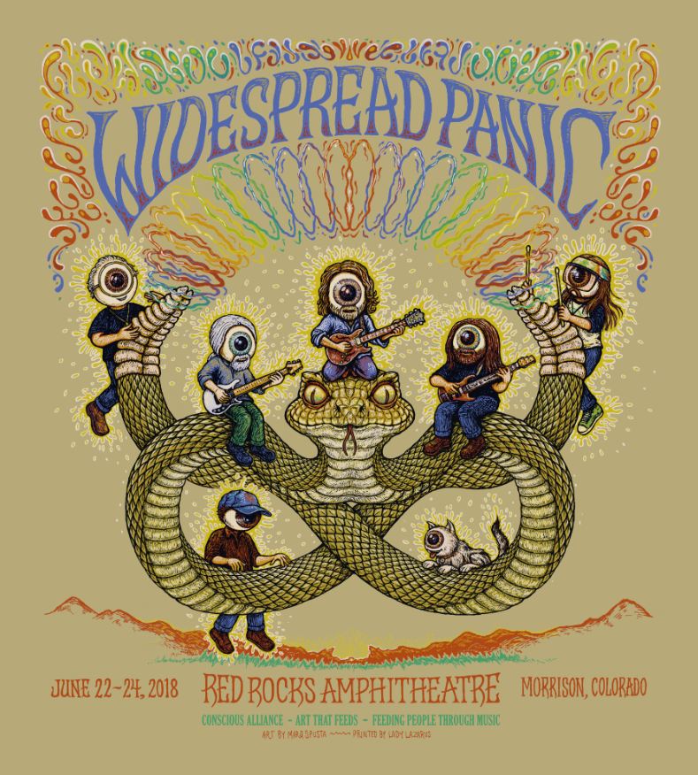 Widespread Panic - Red Rocks Poster