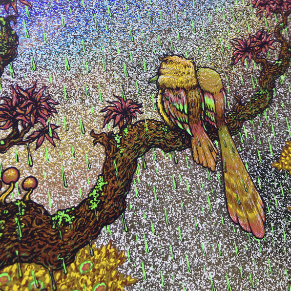 A Couple of Birds in the Rain
