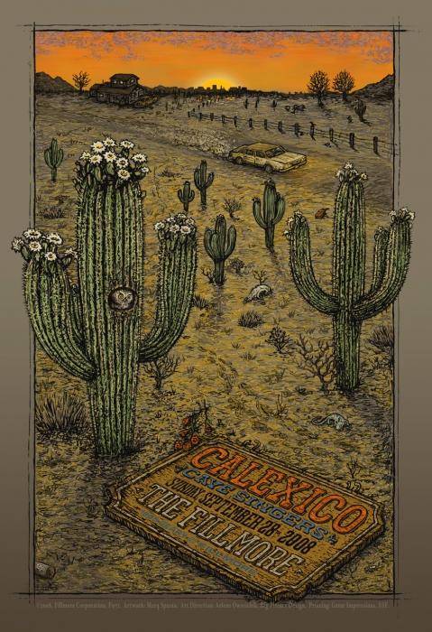 Calexico- Fillmore poster