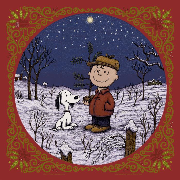 A Charlie Brown Christmas print