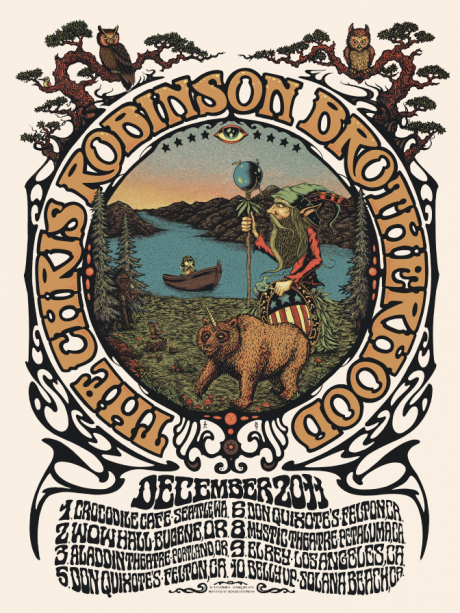 Chris Robinson Brotherhood Poster collaboration wit Alan Forbes