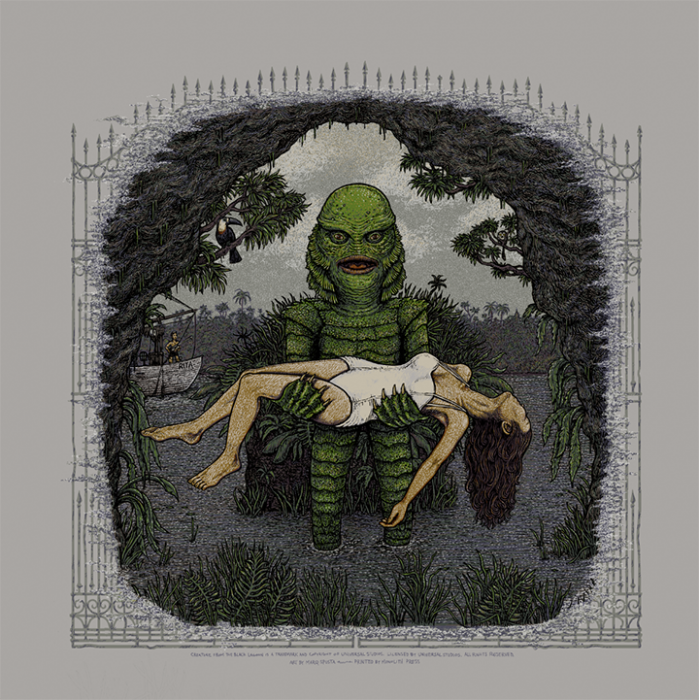 Creature from the Black Lagoon (Universal Classic Monsters) screen print
