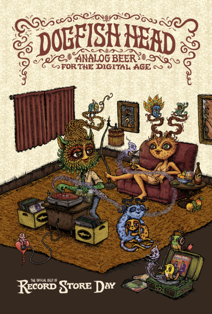 Dogfish Head's Record Store Day 2018 Poster.