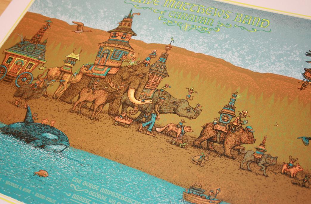 Dave Matthews Band Caravan Artist Edition Poster