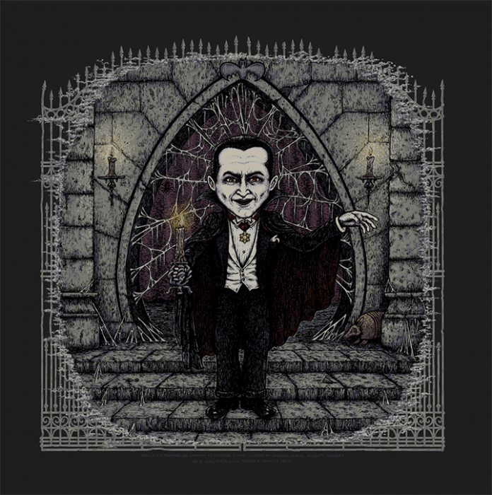 Dracula (Universal Classic Monsters) screen print