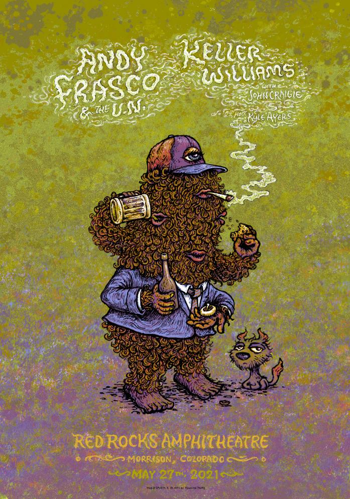 Andy Frasco & Keller Williams Red Rocks Poster