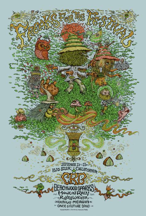 Freaks For the Festival Poster