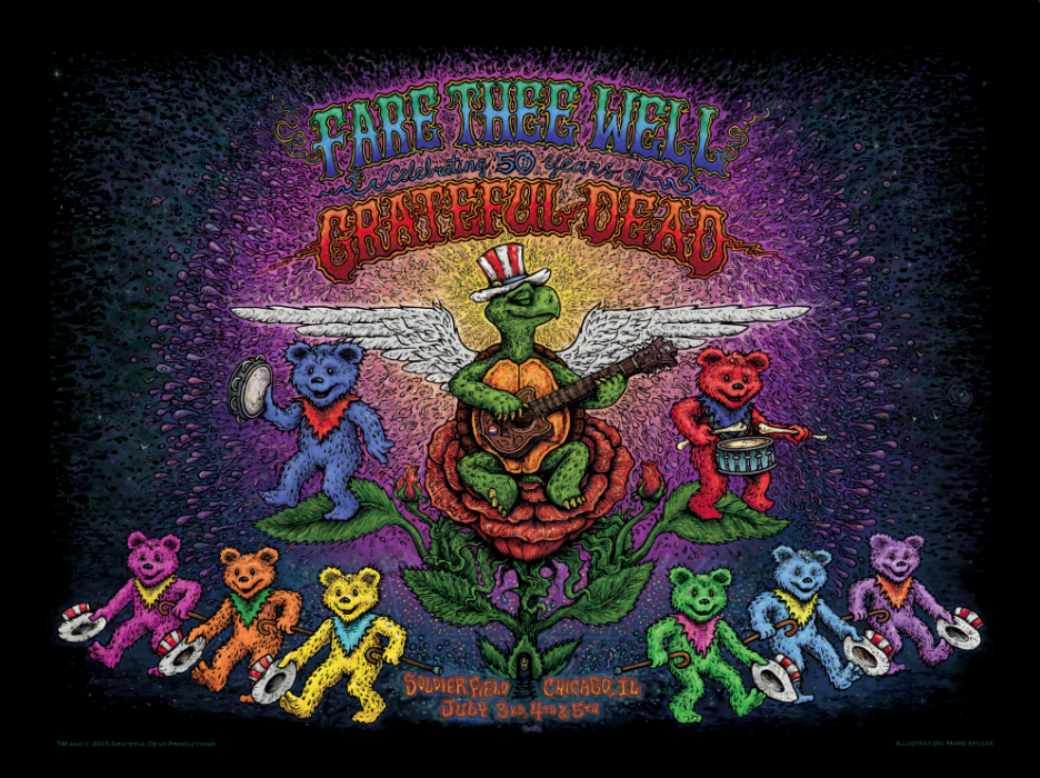 The Grateful Dead - Fare Thee Well Poster