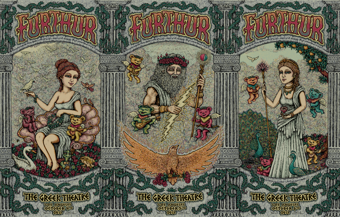 Furthur Greek Poster Triptych