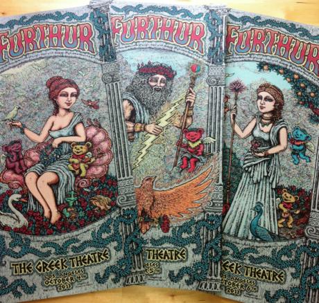 Furthur Greek Poster Triptych