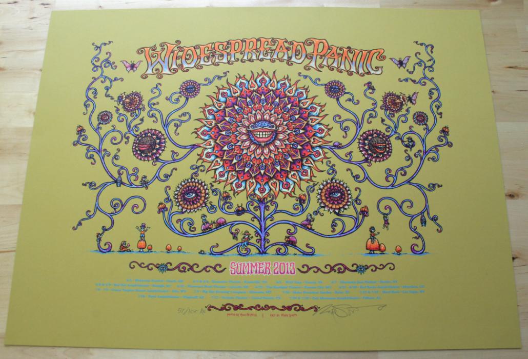 Widespread Panic Summer 2-13 Poster- Artist Edition