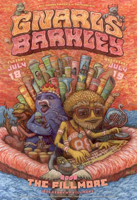 Gnarls Barkley Fillmore Poster