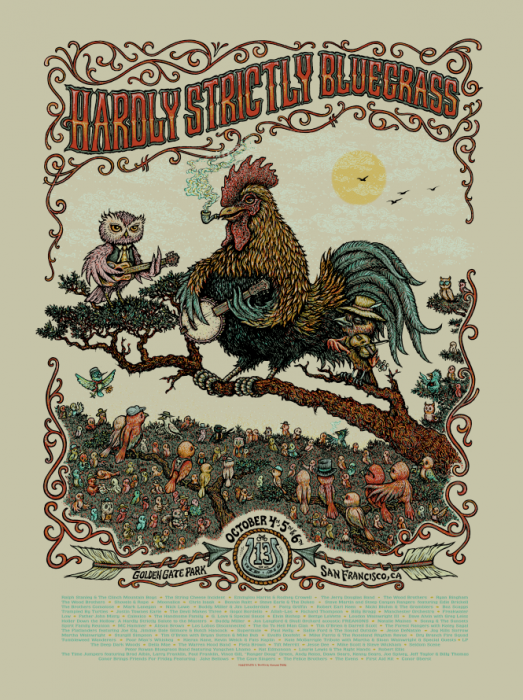 Hardly Strictly Bluegrass Poster