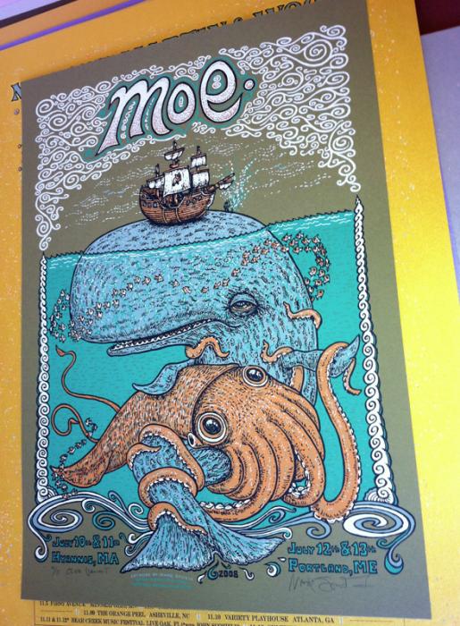 Moe. Whale & Squid (Olive-11)=$80