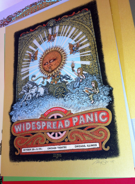 Widespread Panic Chi 2011 (Gold of 15)=$150