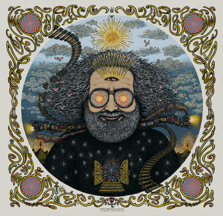 Jerry Garcia Bicycle Day Print - Ivory